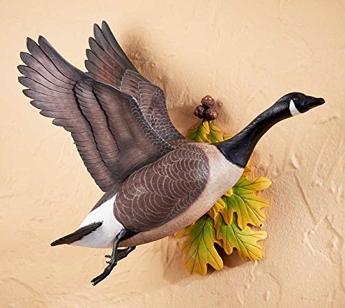Wild Wings Flying Canada Goose Wall Sculpture by Sam Nottleman