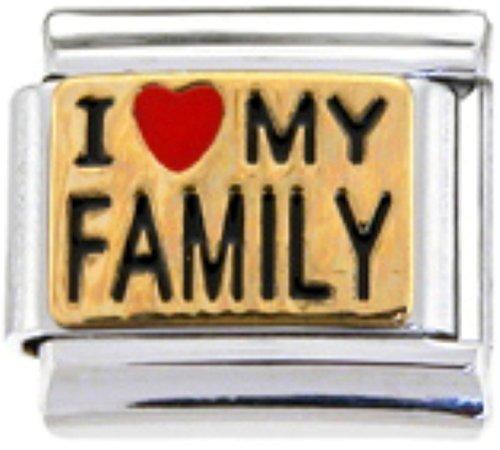 Stylysh Charms Family I Love My Family Enamel Italian 9mm Link FA033