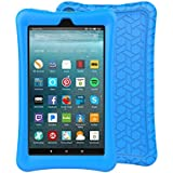 BMOUO Silicone Case for Amazon Fire 7 Tablet with Alexa (7th Generation, 2017 Release only) - Anti Slip Shockproof Light Weight Protective Cover, Blue