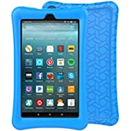 BMOUO Silicone Case for Amazon Fire 7 Tablet with Alexa (7th Generation, 2017 Release only) -...