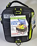 Expandable Lunch Pack Ultra Arctic Zone Bento Containers 2 Ice Packs Black Yellow