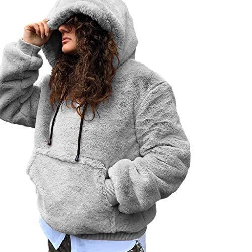 capuche Noël pulls en Tumblr veste veste à shirts plus manches flanelle à gris femmes pour longues coton Sweats les T élégants hiver tailles Vicgrey chauds veste ❤ Pwapqznt