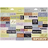 K&Company Cool Words Die-cut Sticker Sheet