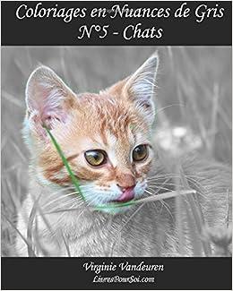 Coloriage Une Vie De Chat.Amazon Com Coloriages En Nuances De Gris N 5 Chats 25 Images