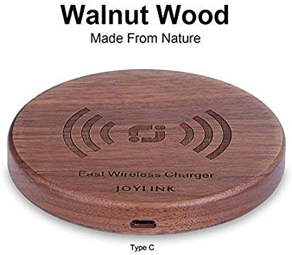 S8 S7 S7edge S6 /& All Qi Enable Metal Base Bamboo Wireless Charger Qi Charging Station Ultra Slim /& Sleep-Friendly Universal Newest Model for iPhone X iPhone 8 Plus iPhone 8 Samsung Galaxy S8