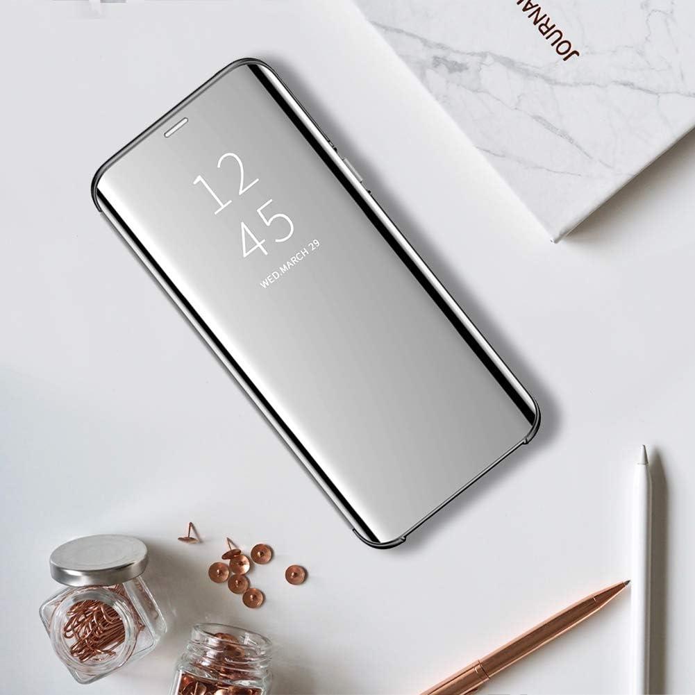 Clear View Standing Cover f/ür das Samsung Galaxy S8 kompatibel mit Galaxy S8 Spiegel Handyh/ülle Schutzh/ülle Flip Cover Schutz Tasche mit Standfunktion 360 Grad h/ülle f/ür Galaxy S8 1
