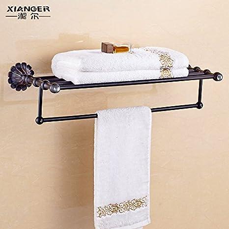 SDKKY Antique toallero toallero Vintage Negro de Estilo Europeo de Toallas de baño baño toallero Estante: Amazon.es: Hogar