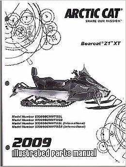 2009 arctic cat snowmobile bearcat z1 xt parts manual p/n 2258-243 (615):  arctic cat: amazon com: books