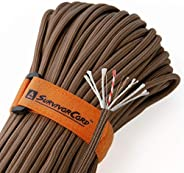 620 LB SurvivorCord - The Original Patented Type III Military 550 Parachute Cord with Integrated Fishing Line,