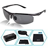 Yodo Large Polarized Sunglasses for Men & Women - Metal Frame - with Case- UV400