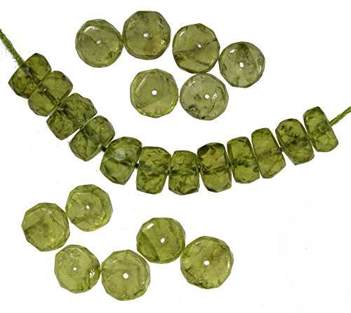 Peridot Faceted Rondelle Beads - 3