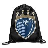 Sporting KC Kansas City Drawstring Bag Drawstring Backpack Size: 17 Inch X 14 Inch