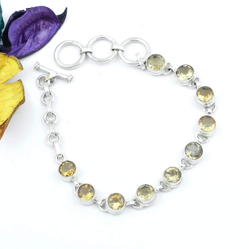 70ef4c9c885660 Citrine Bracelet Sterling Silver Bracelet Charm Bracelet Gemstone Bracelet  Silver Bracelet Stone Bracelet Citrine Power Bracelet Citrine Jewellery ...