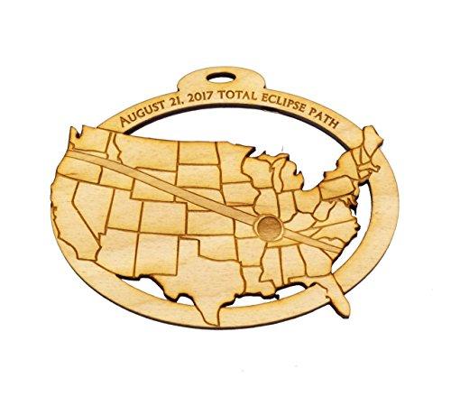 Personalized Solar Eclipse 2017 Ornament