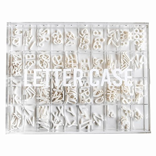 Letter Case Letter Board Case to Organize & Store Your Letters by with 40 Individual Grids for Every Number, Letter and Special Character