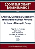 img - for Analysis, Complex Geometry, and Mathematical Physics: In Honor of Duong H. Phong (Contemporary Mathematics) book / textbook / text book