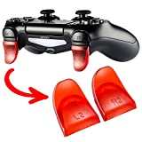 eXtremeRate 2 Pairs Red L2 R2 Buttons Trigger Extenders for PlayStation 4 PS4 JDM-030 Controller