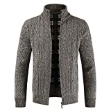 Zainafacai Thick Coat, 2018 Mens Winter Slim Thick Full Zipper Knitted Sweaters Cardigan Jacket (Coffee, 2XL)