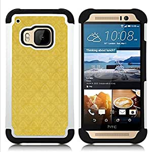 For HTC ONE M9 - wallpaper pattern yellow vintage Dual Layer caso de Shell HUELGA Impacto pata de cabra con im??genes gr??ficas Steam - Funny Shop -