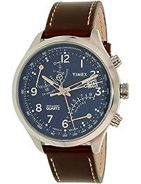 Timex Men's Intelligent TW2P78800 Brown Leather Analog Quartz Watch