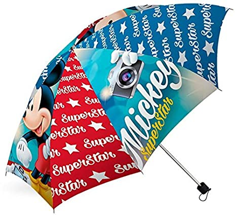 Disney Mickey Mouse Superstar plegable niños paraguas: Amazon.es: Hogar