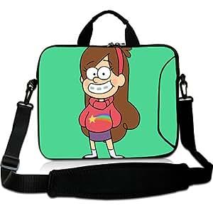 Brinchs Handmadecraft Cute Cartoon 10 10.1 Inch Laptop Shoulder Bag with Mabel Gravity Falls(3) Waterproof Canvas Fabric Laptop / Notebook / MacBook / Ultrabook Computers(Twin Sides)