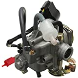 50cc 18mmScooter Carburetor GY6 Four Stroke with Jet Upgrades Scooter Moped ATV