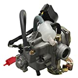 50cc scooter carburetor 4 stroke - 50cc 18mm Scooter Carburetor GY6 Four Stroke with Jet Upgrades Scooter Moped ATV