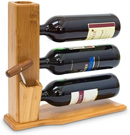 Hermoso soporte de botellas de vino para la mesa o para la estantería.,Para 3 botellas, que se prese