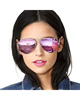 SODQW Aviator Sunglasses for Women Polarized Mirrored, Large Metal Frame, UV 400 Protection