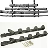 #1: Shenzhen LangTao Bang International Trade Co., Ltd. 5 Tier Wall Mount Holder Stand Bracket Sword Rack Display for Samurai Sword Katana
