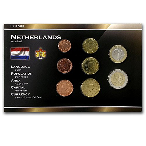 Sets Coin Euro (NL 1999 -2005 Netherlands 1 Cent-2 Euro Coin Set BU Uncirculated)