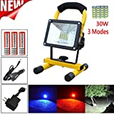 Led Flood Light, Napoo Portable 30W 36 LED Waterproof Rechargeable Worklight Spot Work Lamp Emergency Light For Outdoor Camping, Working, Fishing