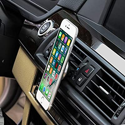 Mini Magnetic car Phone Holder, Kolasels Strong Magnets with Universal Air Vent Car Mount for All Smartphones and Mini Tablets