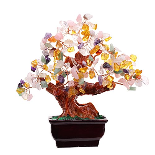 Multi Color Crysta Gem Stone Money Tree-amethyst Rose Quartz Citrine Carnelian Clear Quartz Feng Shui Colorful Crytal Gem Money Tree