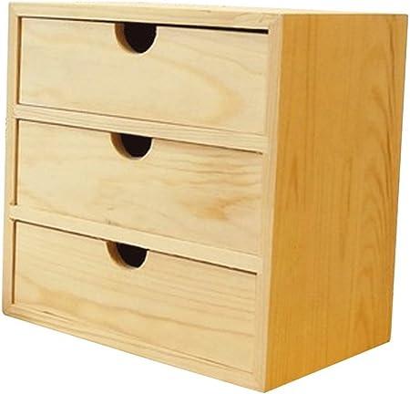 JIANGU - Caja de Almacenamiento para cosméticos, Armario, Armario, cajón, Tipo Multicapa, Madera, Almacenamiento de Escritorio IKEA: Amazon.es: Hogar