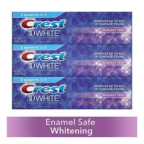 Crest 3D White Toothpaste Radiant Mint 4.8 oz (3 pack) Packaging May Vary