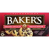 BAKER'S Chocolate Squared- Semi-Sweet, 24 Pack, 225G Each