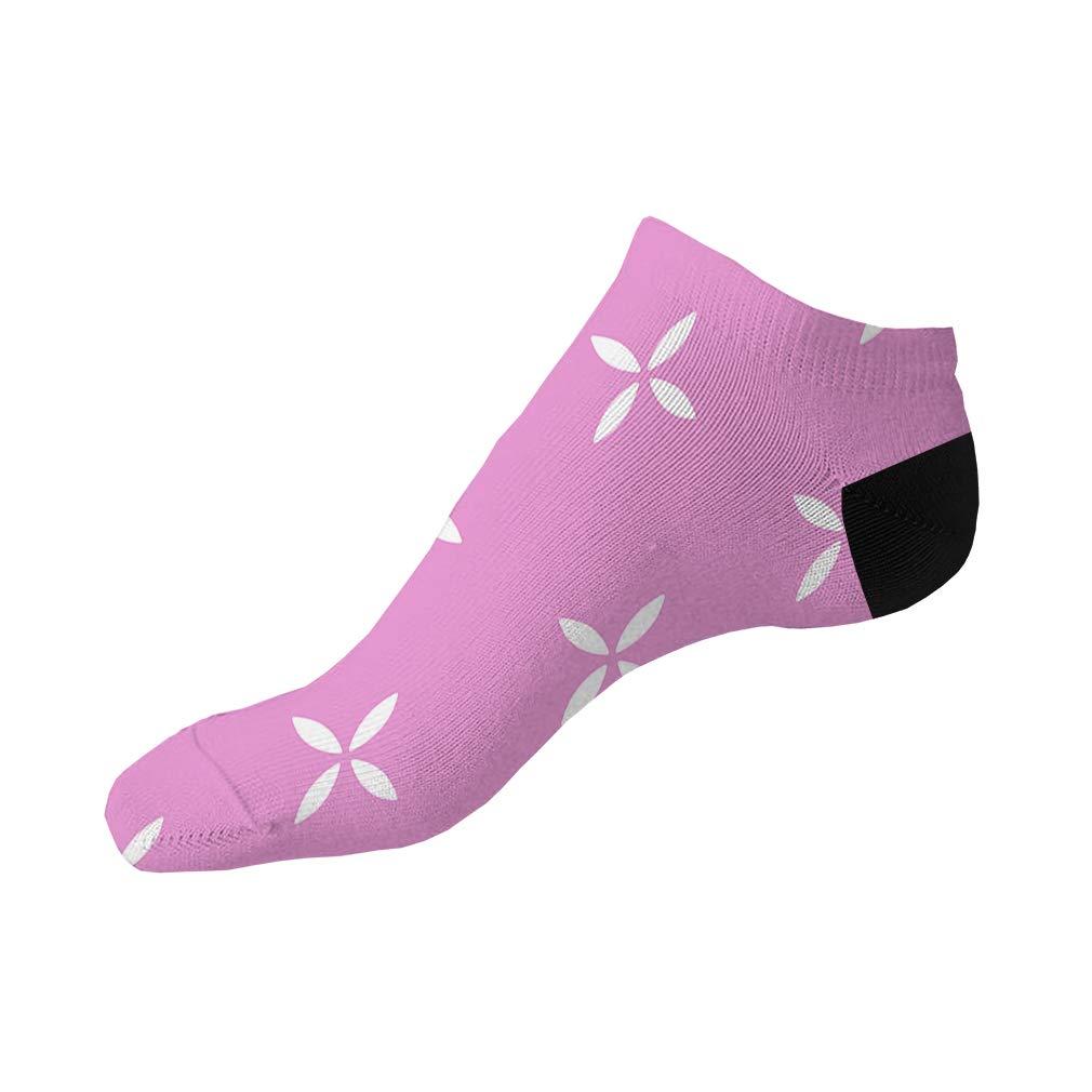 Pink And White Pitter Pattern #13 Men-Women Adult Ankle Socks Novelty Socks