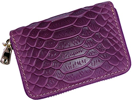 - Cute Card Case Small Wallets For Women RFID Blocking Mini Ladies Coin Purse (Purple)