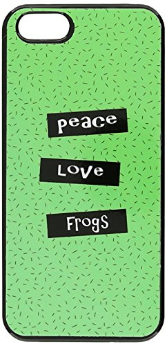Graphics and More Peace Love Frogs Snap-On Hard Protective Case for iPhone 5/5s - Non-Retail Packaging - Black