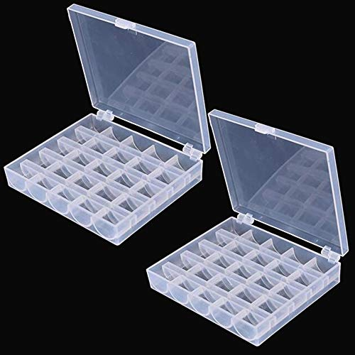 LNKA Bobbin Box/2 Box Machine Bobbin Organizer Plastic Case for Brother Janome Singer Sewing Machine Holder Container Box