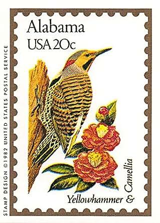 Alabama State Bird & Flower trading card (Yellowhammer