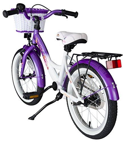 bikestar-406cm-16-pulgada-Bicicleta-para-nios-Clsico-Lila-Blanco