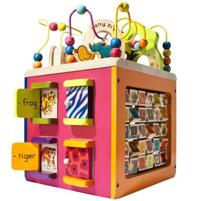Zany Zoo Wooden Activity Cube