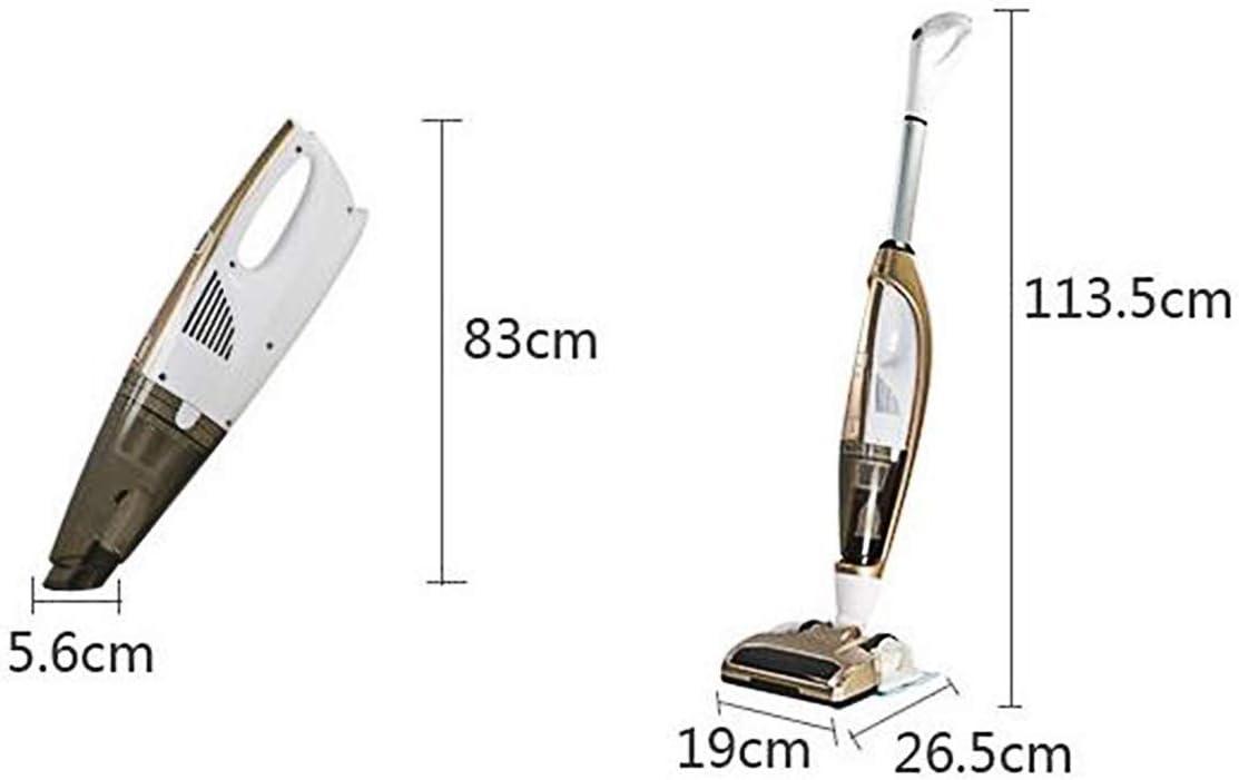Aspirateur Aspirateur sans fil haute puissance à la main Balayeuse poussée humide et sec à double usage domestique aspirateursans fil RVTYR (Color : Silver) Gold