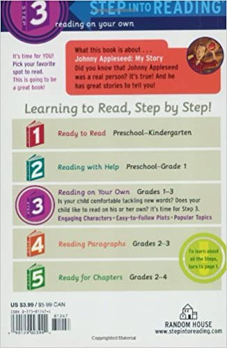 Counting Number worksheets johnny appleseed worksheets for 2nd grade : Amazon.com: Johnny Appleseed: My Story (Step-Into-Reading, Step 3 ...
