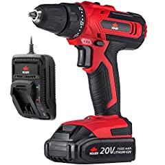 NoCry 3/8in Cordless Drill Kit Specs:Package contents: 1x NoCry cordless drill, 1x 1.5 Ah rechargeable battery, and 1x fast charger Torque settings: 21+1 position ring with clutch, max 266 in lb (30 N.m) 2 speed settings: 1st: 0-400 rpm; 2nd:...