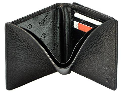 Esquire Deer porte-monnaie cuir 10 cm noir