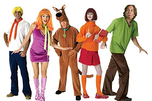 FutureMemories Adult Scooby Doo Group Costume -